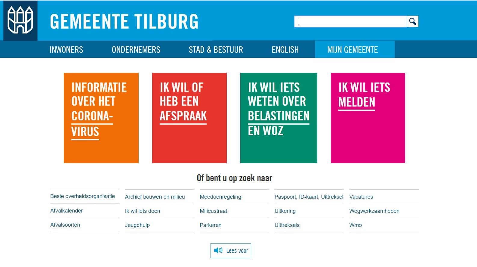 Homepage-gemeente-Tilburg