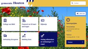 Afbeelding website Houten.nl op de desktop