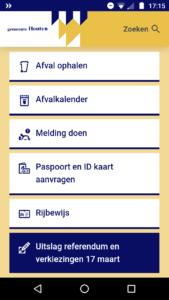 Afbeelding website Houten.nl op de smartphone